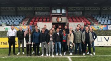 bezoek van Johan Cruijff Alumni aan Feijenoord Jeugdopleiding